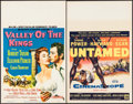 "Movie Posters:Adventure, Valley of the Kings & Other Lot (MGM, 1954). Window Cards (2)(14"" X 22""). Adventure.. ... (Total: 2 Items)"