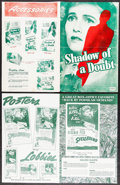 """Movie Posters:Hitchcock, Shadow of a Doubt & Other Lot (Universal, R-1946/1950s).Pressbooks (2) (Multiple Pages, 11.5"""" X 14"""", 11"""" X 17"""") & SheetMus... (Total: 4 Items)"""