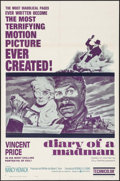 """Movie Posters:Horror, Diary of a Madman (United Artists, 1963). One Sheet (27"""" X 41""""). Horror.. ..."""