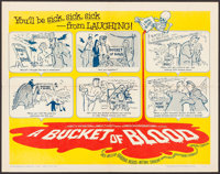 "A Bucket of Blood (American International, 1959). Half Sheet (22"" X 28""). Horror"