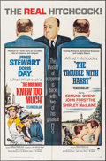"""Movie Posters:Hitchcock, The Trouble with Harry/ The Man Who Knew Too Much Combo (Paramount,R-1963). One Sheet (27"""" X 41""""). Hitchcock.. ..."""