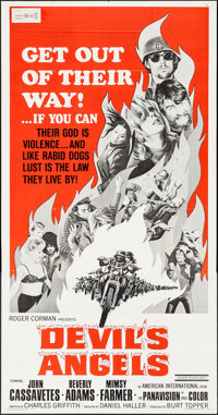 "Devil's Angels (American International, 1967). Three Sheet (41"" X 79""). Exploitation"