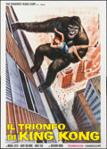 "Movie Posters:Science Fiction, King Kong vs. Godzilla & Other Lot (Hundred Years Corp., 1973).First Release Italian 4 - Fogli (55"" X 77.5"") & Italian 2-Fo...(Total: 2 Items)"