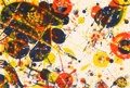 Prints & Multiples, Sam Francis (1923-1994). One Plate (from The Pasadena Box), 1964. Lithograph in colors. 15-1/2 x 22-7/8 inches (39.4 x 5...