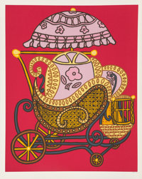 William Copley (1919-1996) Baby Buggy, 1978 Screenprint in colors on paper 30 x 24 inches (76.2 x