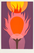 Prints:Contemporary, Clarence Holbrook Carter (1904-2000). Burning Bush, 1977.Screenprint in colors. 35-7/8 x 24 inches (91.22 x 60.96 cm) (...