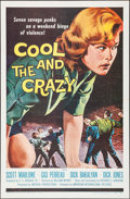 "Movie Posters:Bad Girl, The Cool and the Crazy (American International, 1958). One Sheet(27"" X 41""). Bad Girl.. ..."