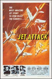 "Jet Attack & Other Lot (American International, 1958). One Sheets (2) (27"" X 41""). War. ... (Total: 2 Item..."