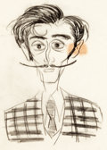 Animation Art:Concept Art, Destino Salvador Dali Concept Art Sketch by Campbell Grant(Walt Disney, 1945)....