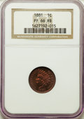 Proof Indian Cents: , 1881 1C PR66 Red and Brown NGC. NGC Census: (40/8). PCGS Population: (34/11). Mintage 3,575. ...