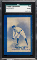 Baseball Cards:Singles (Pre-1930), 1914 Baltimore News Gus Gleichmann SGC 30 Good 2....