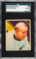 Football Cards:Singles (Pre-1950), 1935 National Chicle Knute Rockne #9 SGC 92 NM/MT+ 8.5 - NoneHigher....
