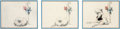 "Animation Art:Concept Art, Fantasia ""Dance of the Hours"" Concept Drawing Group of 3(Walt Disney, 1940). ..."