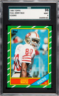 Football Cards:Singles (1970-Now), 1986 Topps Jerry Rice #161 SGC 96 Mint 9 - None Higher....