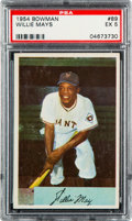 Baseball Cards:Singles (1950-1959), 1954 Bowman Willie Mays #89 PSA EX 5....