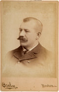 Baseball Cards:Singles (Pre-1930), C. 1891 Conly Studios Dan Brouthers Cabinet Photo. ...
