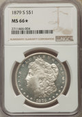Morgan Dollars, 1879-S $1 MS66 ★ NGC. NGC Census: (7253/2157). PCGS Population: (7569/1650). CDN: $250 Whs...