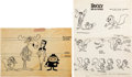 animation art:Model Sheet, Rocky and His Friends Studio Model Sheets and Story Notes Group of 16 (Jay Ward, 1960). ... (Total: 16 )