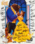 Animation Art:Poster, Beauty and the Beast Signed Poster (Walt Disney, 1991). ...