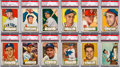Baseball Cards:Lots, 1952 Topps Baseball Low-Number Black Back PSA-Graded Collection(25). ...