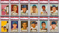 Baseball Cards:Lots, 1952 Topps Baseball High Numbers PSA-Graded Collection (22). ...