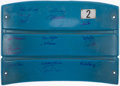 Autographs:Others, New York Yankees Greats Multi-Signed Yankee Stadium Seatback (18Signatures). ...