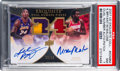 Basketball Cards:Singles (1980-Now), 2006 UD Exquisite Kobe Bryant/Moses Malone Dual Number Auto/Patch #'d 23/24 #EDNBM PSA NM 7....