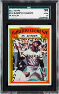 Baseball Cards:Singles (1970-Now), 1972 Topps Roberto Clemente In Action #310 SGC 98 Gem 10 - The Reigning SGC Champion! ...
