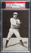Baseball Cards:Singles (Pre-1930), 1907 PC765-1 Dietsche Post Cards Ty Cobb (Batting) PSA EX 5....