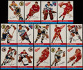 Hockey Cards:Lots, 1954 Topps Hockey Collection (14)....