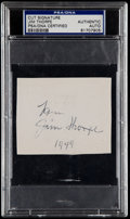 Football Collectibles:Others, Jim Thorpe Cut Signature PSA/DNA Authentic....