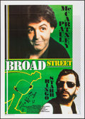 """Movie Posters:Rock and Roll, Give My Regards to Broad Street (20th Century Fox, 1987). Italian 2- Fogli (39.25"""" X 55.25""""). Rock and Roll.. ..."""