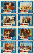 "Movie Posters:Western, Shane (Paramount, 1953). Lobby Card Set of 8 (11"" X 14"").. ...(Total: 8 Item)"