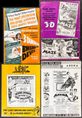 "Movie Posters:Adventure, Bwana Devil & Others Lot (United Artists, 1953). UncutPressbooks (7) (Multiple Pages, 11"" X 15,"" 11"" X 17,"" 12"" X 16,""12"" ... (Total: 15 Items)"