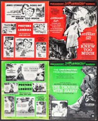 The Man Who Knew Too Much & Others Lot (Paramount, 1956/Artists Music, 1955). Uncut Pressbooks (2) (Multiple Pages...
