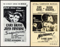 """Movie Posters:Hitchcock, Notorious & Others Lot (SRO, R-1954). Pressbooks (4) (Multiple Pages, 11"""" X 17"""", 11"""" X 17.5"""", 12"""" X 18""""). Hitchcock.. ... (Total: 4 Items)"""