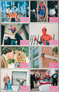 "Movie Posters:Action, Spider-Man (Columbia, 1977). International Lobby Card Set of 8 (11""X 14""). Action.. ... (Total: 8 Items)"