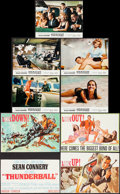 "Movie Posters:James Bond, Thunderball (United Artists, 1965). French Lobby Cards (9) (8.25"" X10.5""). James Bond.. ... (Total: 10 Items)"