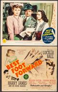 """Movie Posters:Musical, Best Foot Forward (MGM, 1943). Trimmed Title Lobby Card (11"""" X 13.5"""") & Lobby Card (11"""" X 14""""). Musical.. ... (Total: 2 Items)"""