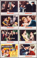 """Movie Posters:Adventure, Moonfleet (MGM, 1955). Lobby Card Set of 8 (11"""" X 14""""). Adventure..... (Total: 8 Items)"""