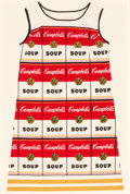 Post-War & Contemporary:Pop, After Andy Warhol (1928-1987). Souper Dress, circa 1968.Color screenprint on cellulose and cotton. 37-1/2 x 21-1/2 inch...