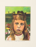 Prints:Contemporary, Peter Blake (b. 1932). Alice in Wonderland, 1970.Screenprint in colors. 9-1/2 x 7 inches (24.13 x 17.78 cm) (image).26...
