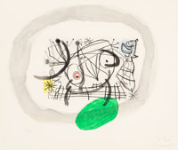 Joan Miró (1893-1983) Untitled, from Fissures, 1969 Etching and aquatint in colors on BFK