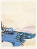 Fine Art - Work on Paper:Print, Zao Wou-Ki (1921-2013). Untitled, 1990. Lithograph incolors. 8-1/2 x 6-3/8 inches (21.6 x 16.2 cm) (image). 9-3/4 x7-1...