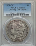 Morgan Dollars: , 1879-CC $1 -- Cleaning -- PCGS Genuine. VF Details. NGC Census: (82/1993). PCGS Population: (200/3893). CDN: $280 Whsle. Bi...