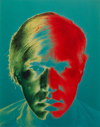 Philippe Halsman (American, 1906-1979) Andy Warhol (three photographs), 1968 Dye coupler, printed la