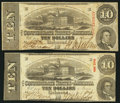 Confederate Notes:1863 Issues, T59 $10 1863 PF-12 Cr. 440 and PF-19 Cr. 442.. ... (Total: 2 notes)