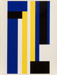 Ilya Bolotowsky (1907-1981) Series 8, circa 1970 Screenprint in colors 40 x 30-3/8 inches (101.6