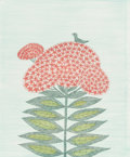 Prints:Contemporary, Keiko Minami (1911-2004). Bird on Flower, 1985. Aquatintetching. 22-1/4 x 14-1/8 inches (56.5 x 35.9 cm) (sheet). Ed. 8...