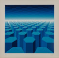 Prints:Contemporary, Yvaral (Jean-Pierre Vasarely) (1934-2002). 50 Shades ofBlue, circa 1970. Screenprint in colors. 24-1/4 x 24-3/8 inches...